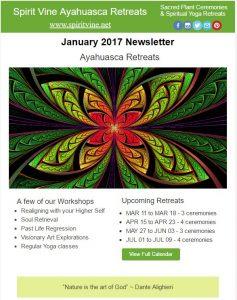 Ayahuasca newsletter