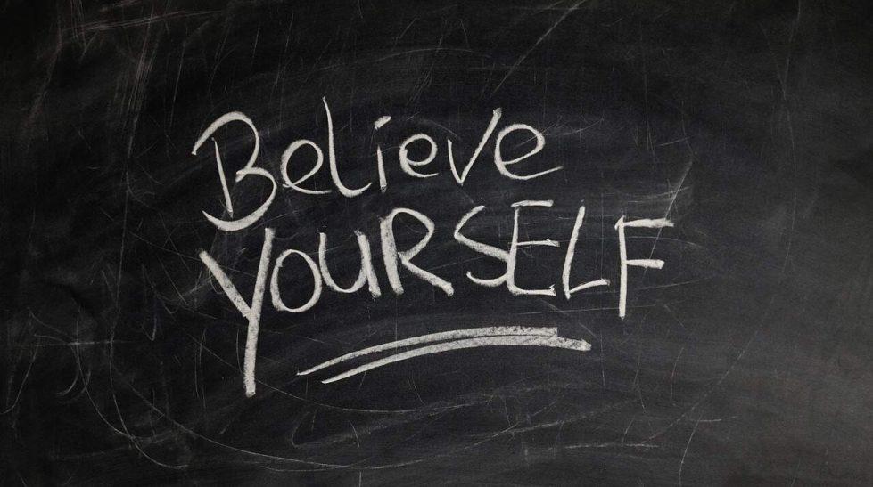 believe yourself written on a blackboard