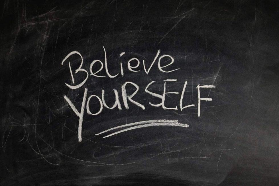believe yourself written on a blackboard